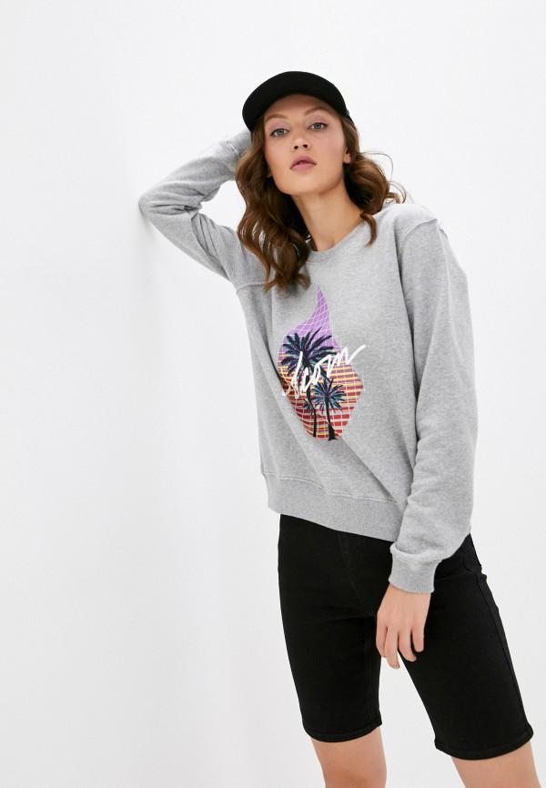 женский свитшот volcom, серый