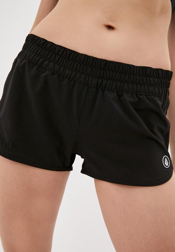 женские спортивные шорты volcom, черные