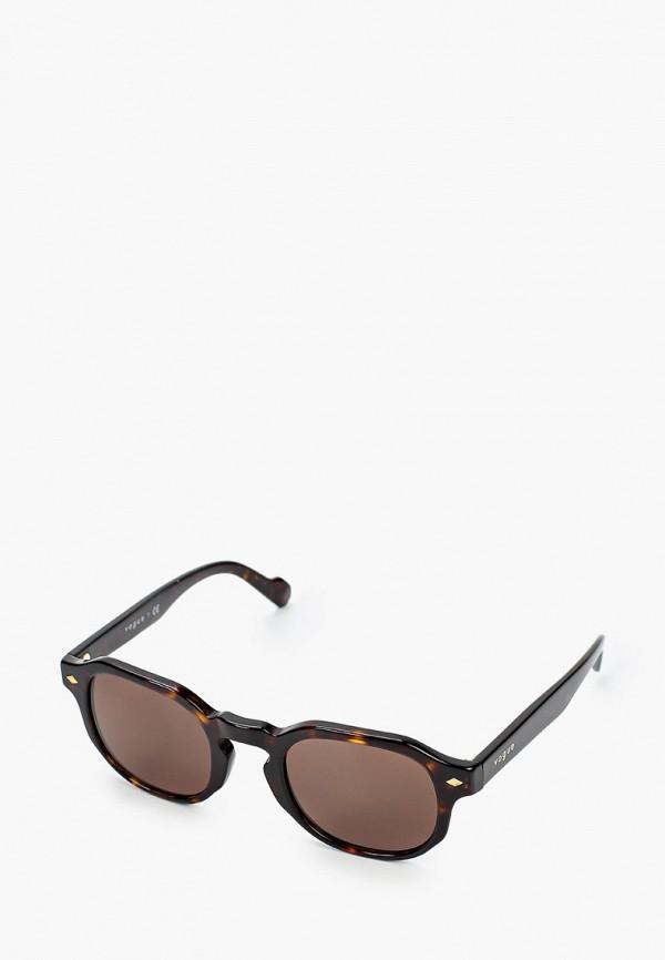 женские квадратные солнцезащитные очки vogue® eyewear, зеленые