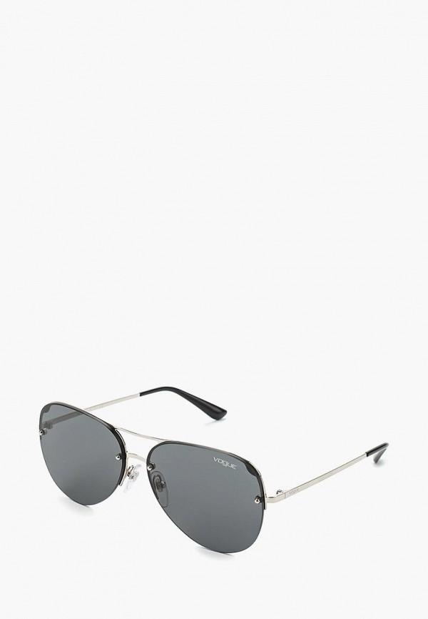Купить Очки солнцезащитные Vogue® Eyewear, VO4080S 323/87, VO007DWAUPA8, серебряный, Осень-зима 2018/2019