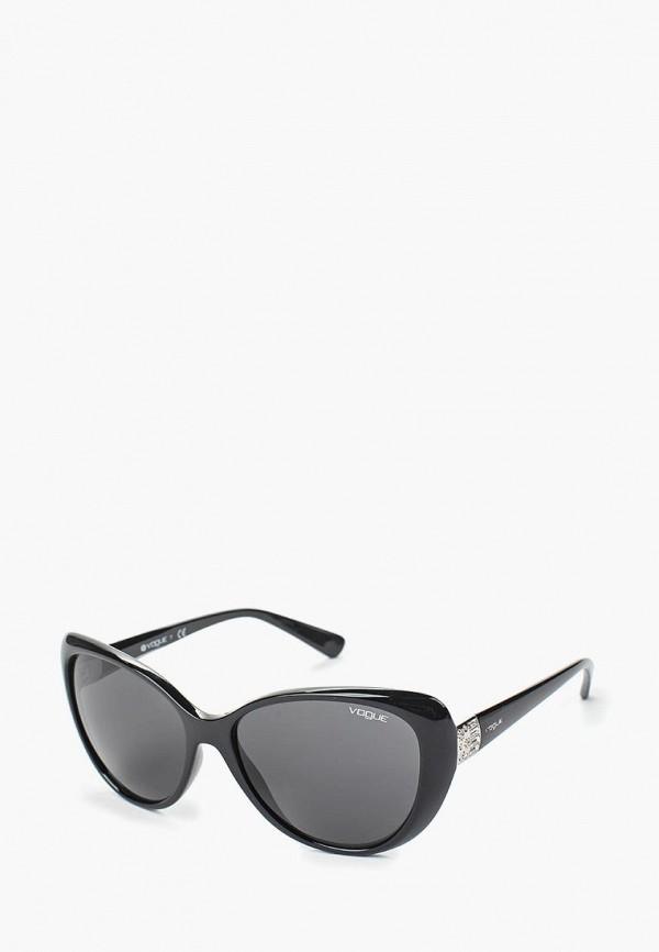 женские солнцезащитные очки кошачьи глаза vogue® eyewear, черные