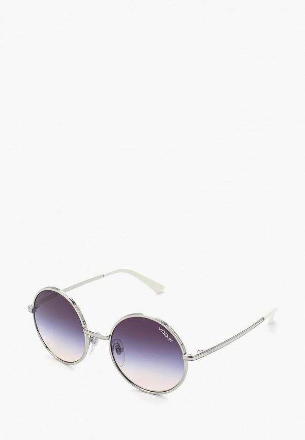 Купить Очки солнцезащитные Vogue® Eyewear, VO4085S 323/36, VO007DWAUPC4, серебряный, Весна-лето 2018