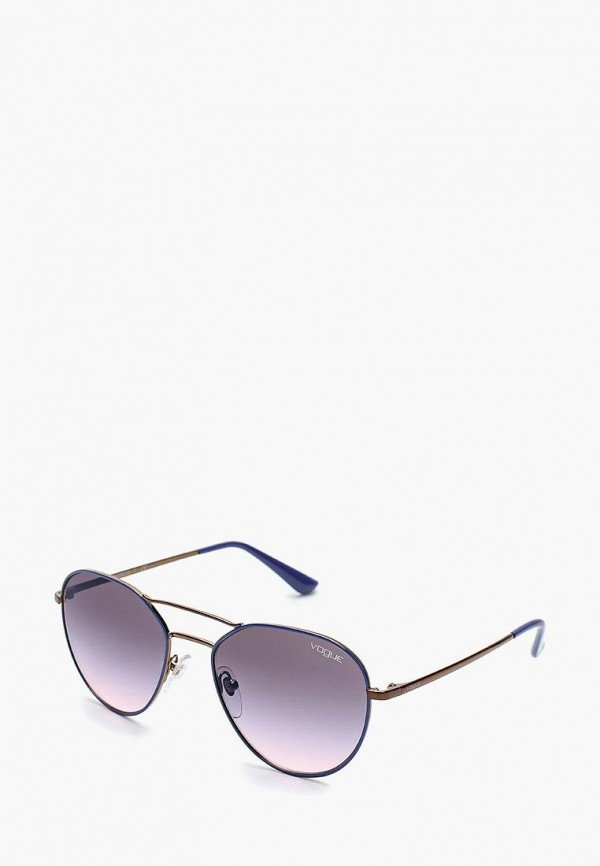 Очки солнцезащитные Vogue® Eyewear, VO4060S 5080H9, VO007DWAUPD0, синий, Осень-зима 2018/2019  - купить со скидкой