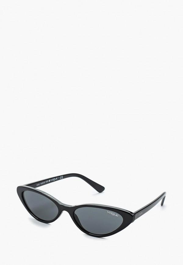 Купить Очки солнцезащитные Vogue® Eyewear, VO5237S W44/87, VO007DWAUPD7, черный, Весна-лето 2018