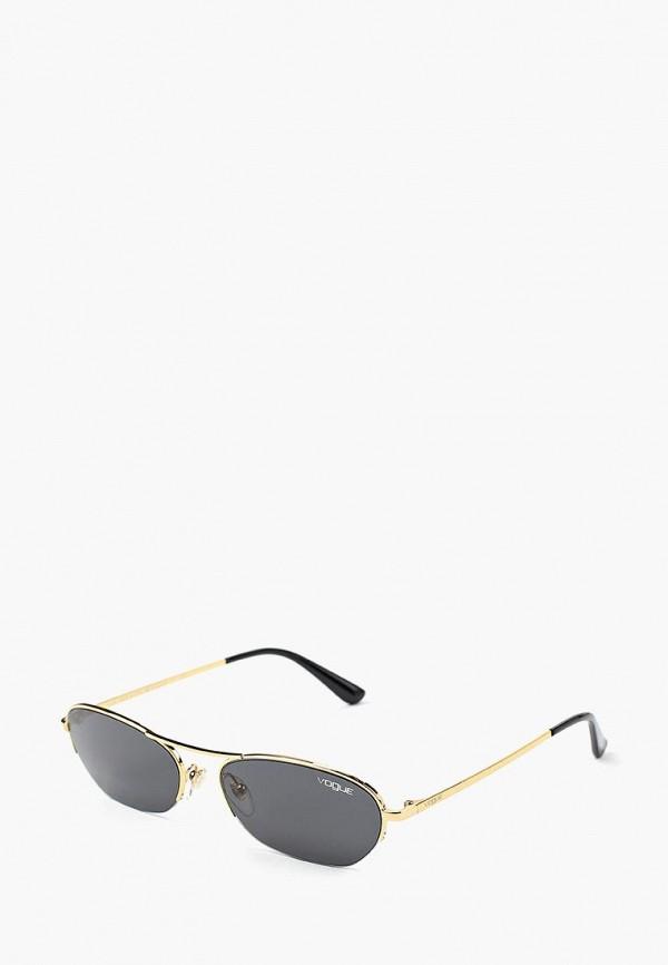 Купить Очки солнцезащитные Vogue® Eyewear, VO4107S 280/87, VO007DWBZPB1, золотой, Осень-зима 2018/2019