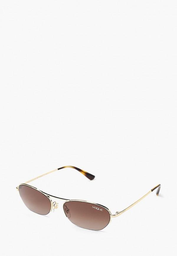 Купить Очки солнцезащитные Vogue® Eyewear, VO4107S 848/13, VO007DWBZPB4, золотой, Осень-зима 2018/2019