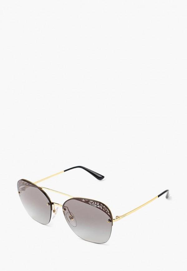 Купить Очки солнцезащитные Vogue® Eyewear, VO4104S 280/11, VO007DWBZPC3, золотой, Осень-зима 2018/2019