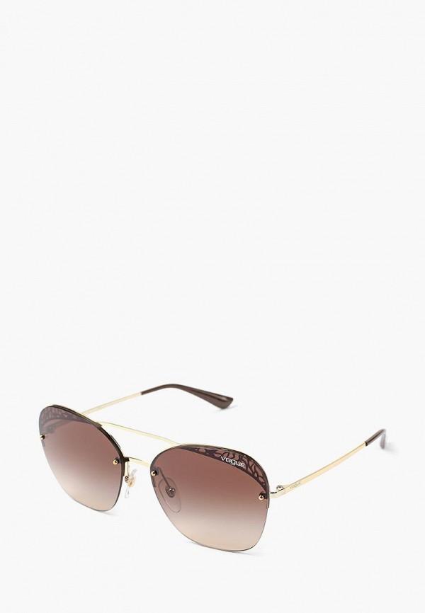 Купить Очки солнцезащитные Vogue® Eyewear, VO4104S 848/13, VO007DWBZPC5, золотой, Осень-зима 2018/2019