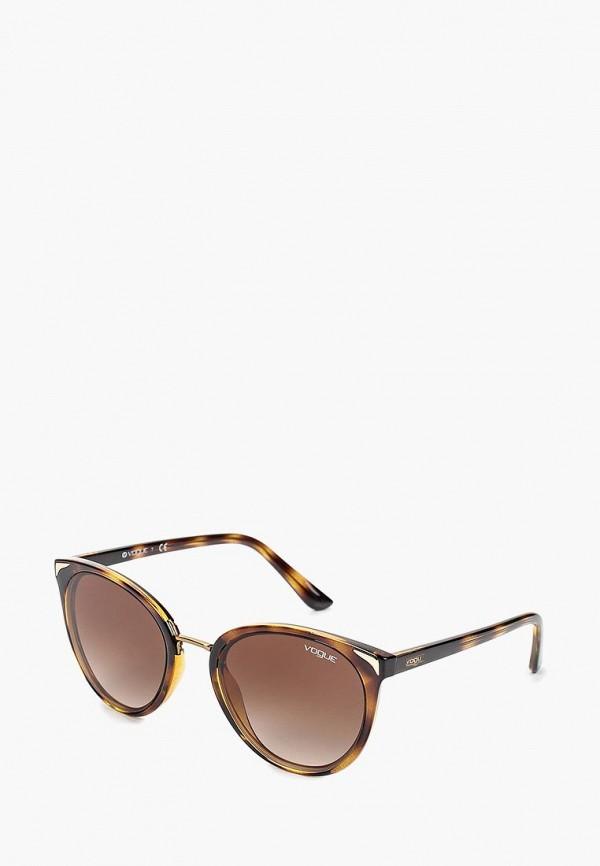 женские солнцезащитные очки кошачьи глаза vogue® eyewear, коричневые