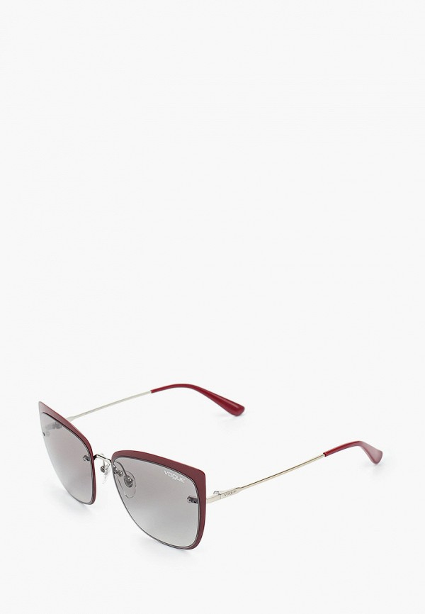 женские квадратные солнцезащитные очки vogue® eyewear, бордовые