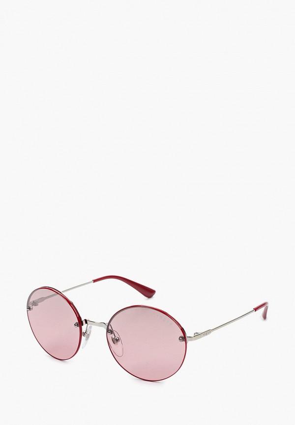 женские круглые солнцезащитные очки vogue® eyewear, серебряные