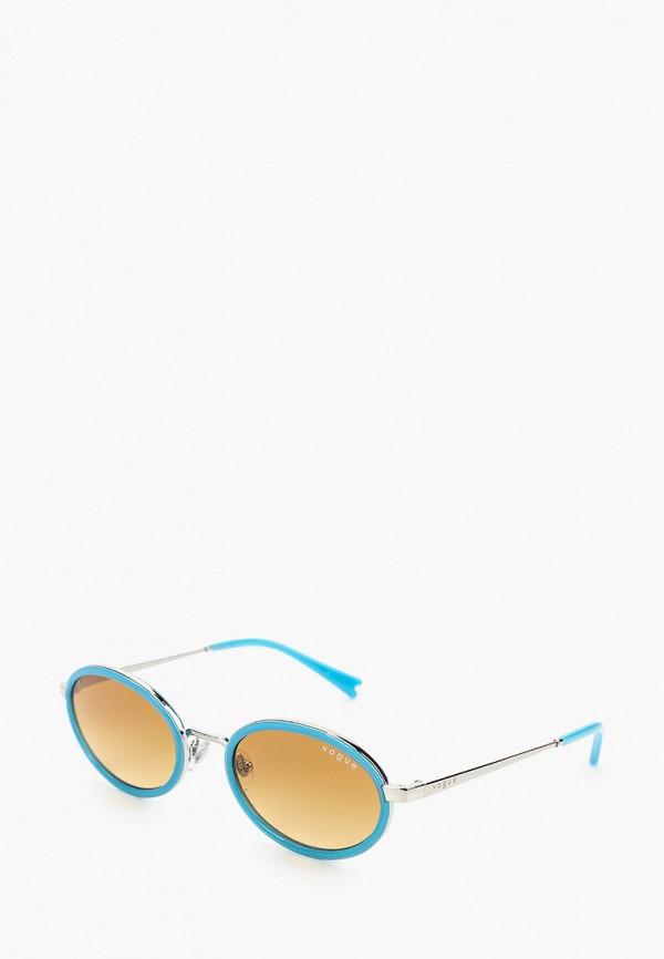 женские круглые солнцезащитные очки vogue® eyewear, голубые