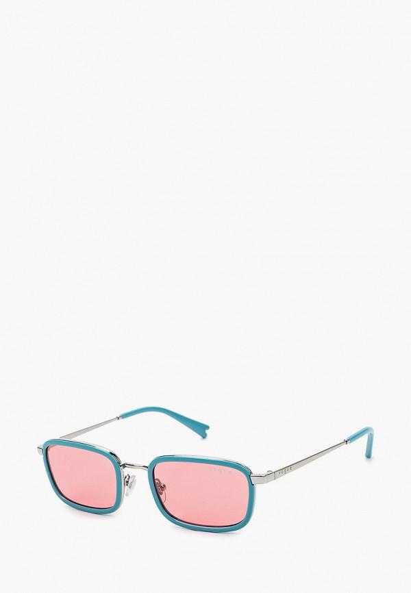 женские квадратные солнцезащитные очки vogue® eyewear, голубые
