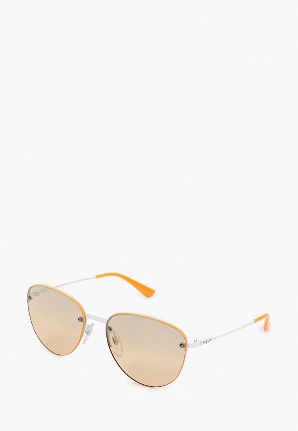 женские круглые солнцезащитные очки vogue® eyewear, оранжевые