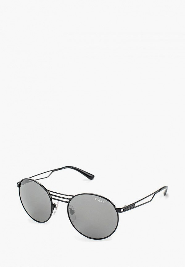 Купить Очки солнцезащитные Vogue® Eyewear, VO4044S 352/6G, VO007DWOZH63, черный, Весна-лето 2018