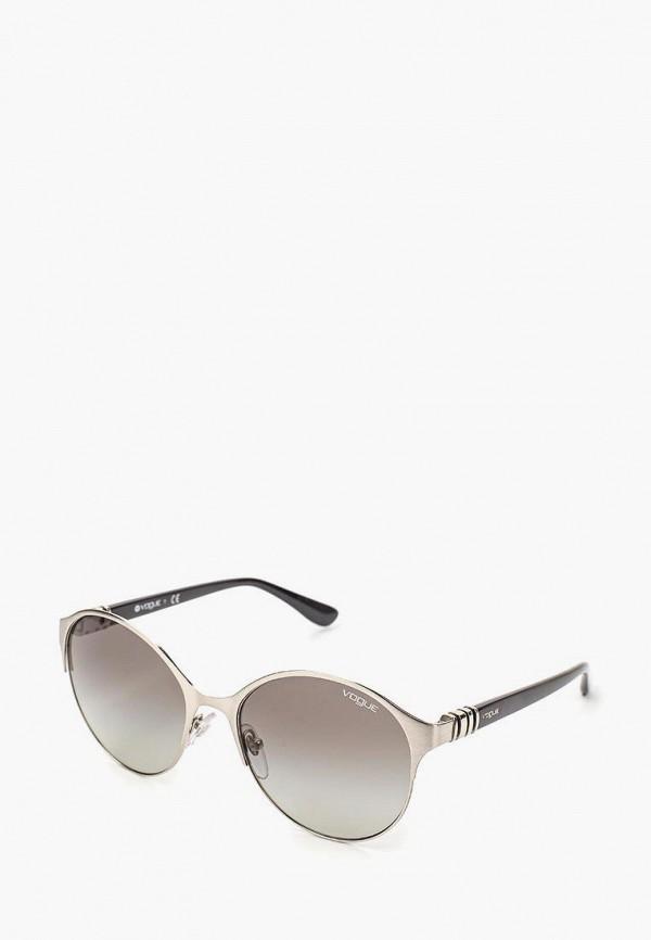 Купить Очки солнцезащитные Vogue® Eyewear, VO4049S 323/11, VO007DWQGU53, серебряный, Осень-зима 2018/2019
