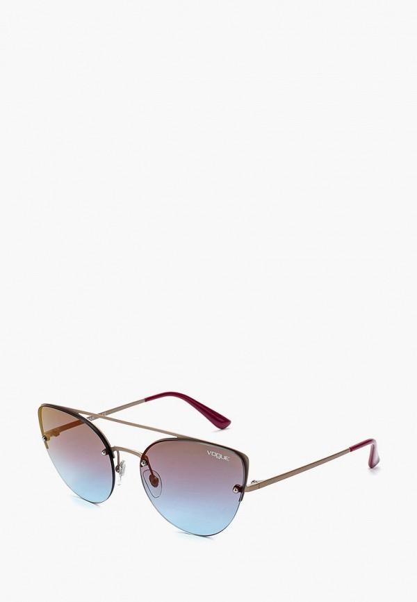 Купить Очки солнцезащитные Vogue® Eyewear, VO4074S 5075H7, VO007DWZBF28, золотой, Осень-зима 2018/2019