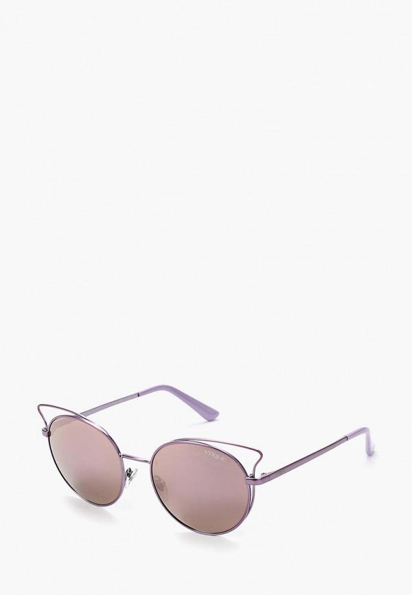 Купить Очки солнцезащитные Vogue® Eyewear, VO4048S 50765R, VO007DWZBF44, фиолетовый, Осень-зима 2018/2019