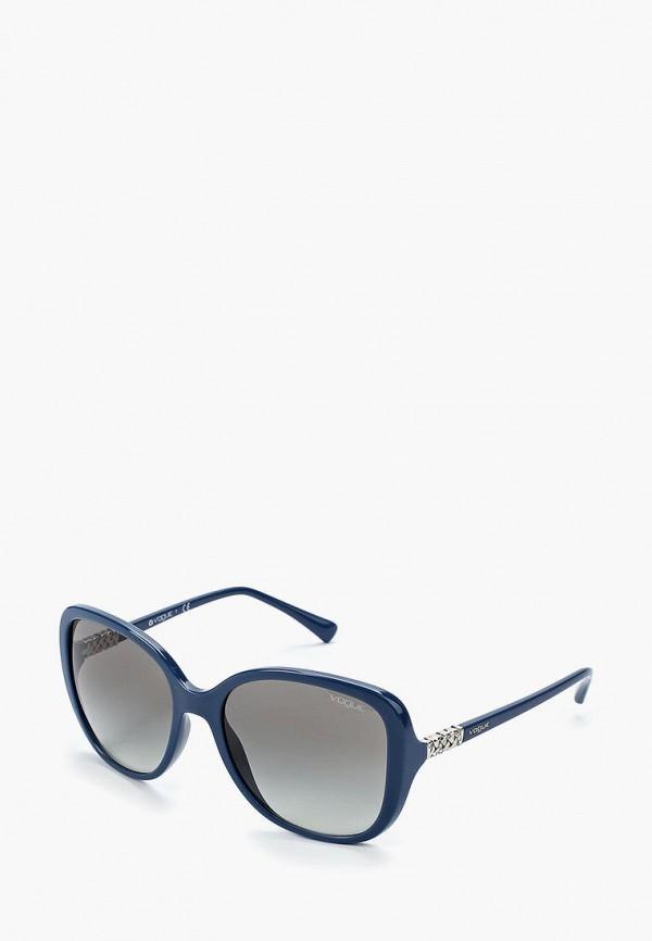 Купить Очки солнцезащитные Vogue® Eyewear, VO5154SB 241611, VO007DWZBF45, синий, Осень-зима 2018/2019