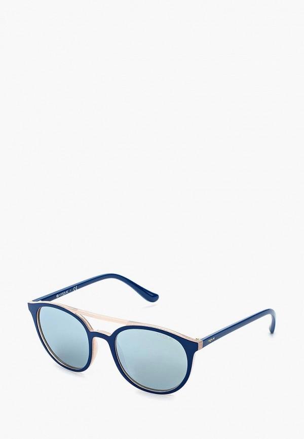 Купить Очки солнцезащитные Vogue® Eyewear, VO5195S 259330, VO007DWZBF49, синий, Осень-зима 2018/2019