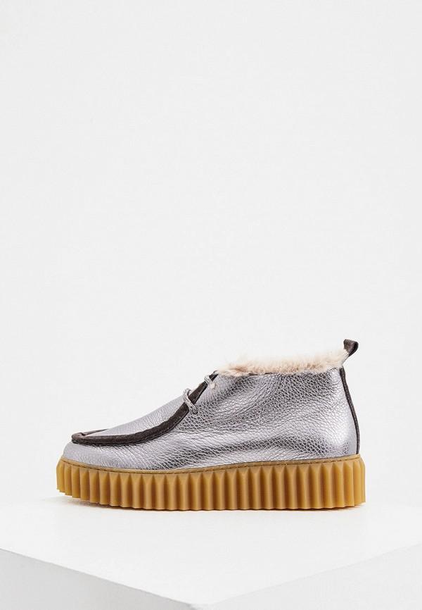 женские ботинки voile blanche, серебряные