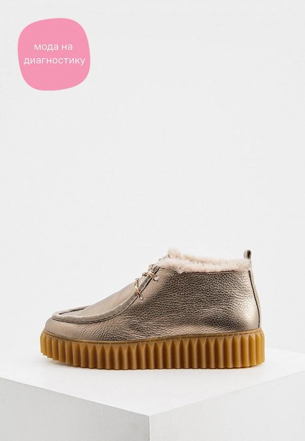 женские ботинки voile blanche, золотые