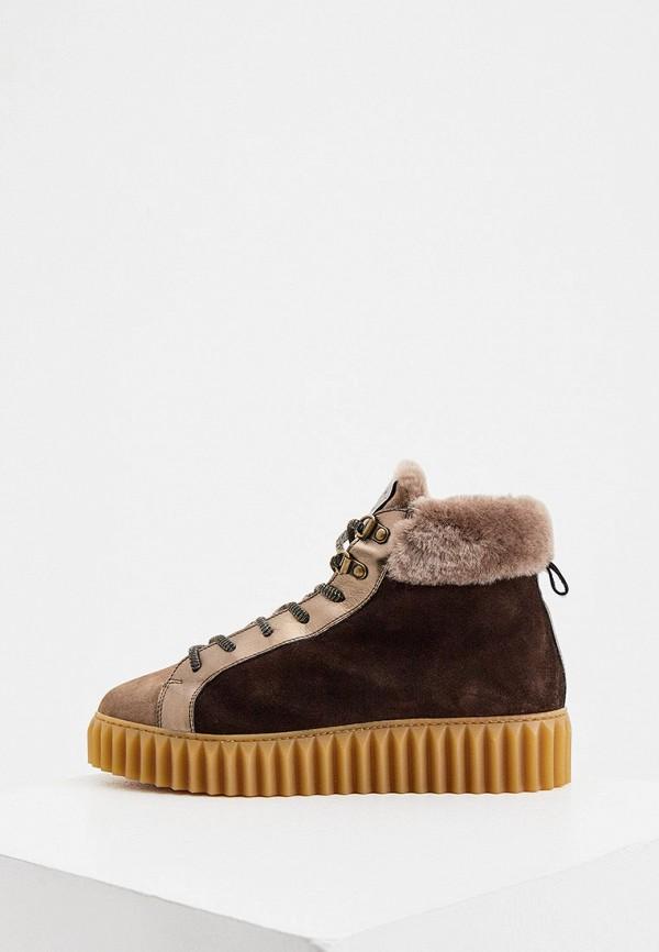женские ботинки voile blanche, коричневые