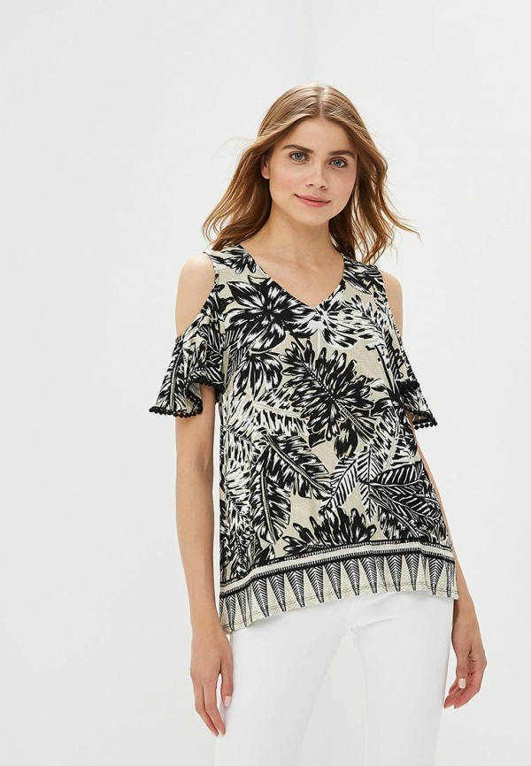 Блуза Wallis Wallis WA007EWBQGS2 chic fringed printed cover up
