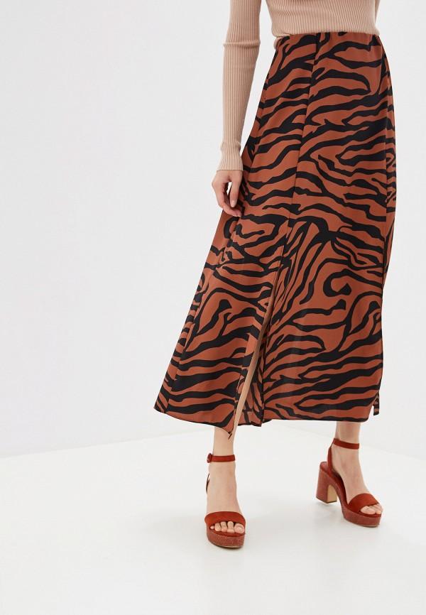 женская юбка wallis, коричневая