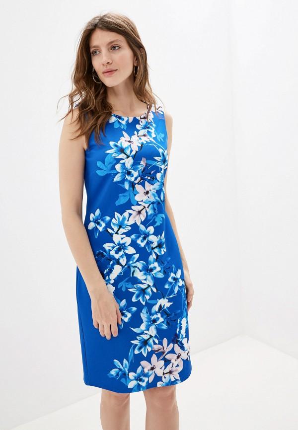 женское платье-футляр wallis, синее