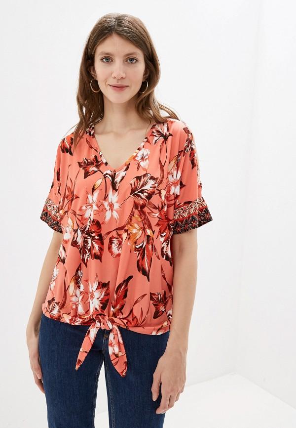 Фото - женскую блузку Wallis кораллового цвета