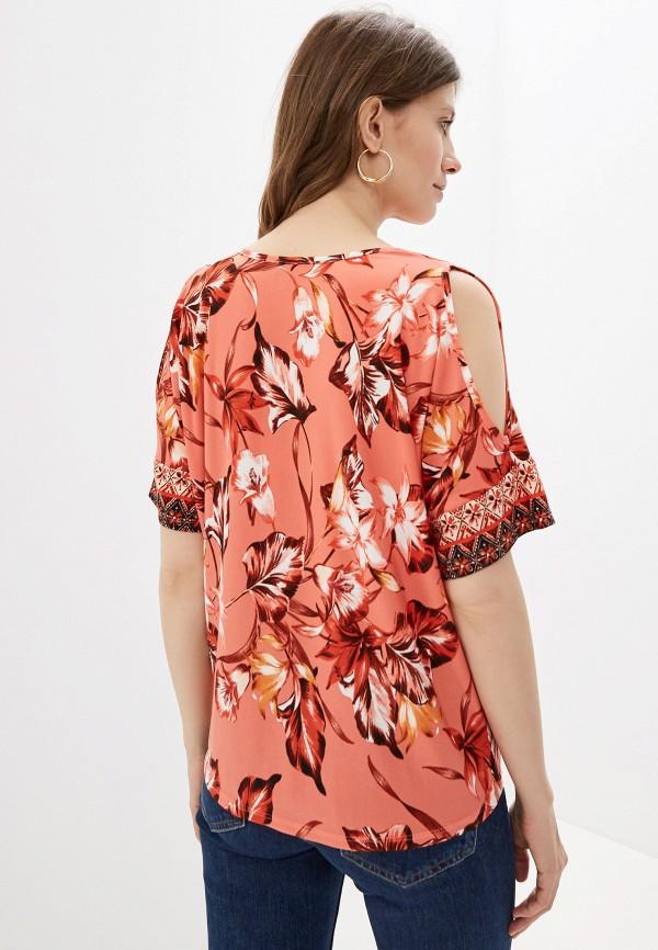 Фото 3 - женскую блузку Wallis кораллового цвета