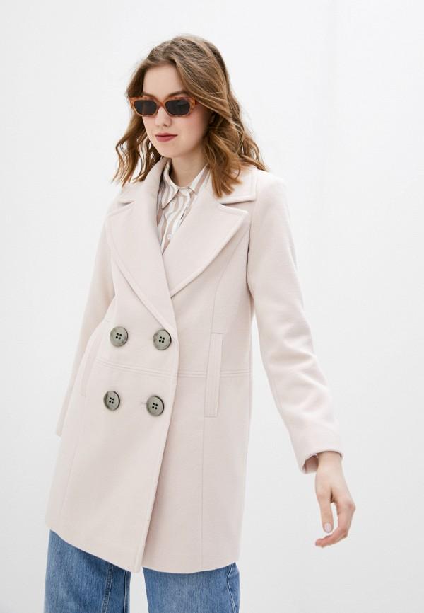 женское пальто wallis, розовое