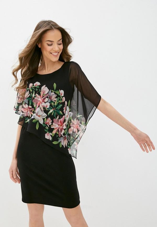 женское платье-футляр wallis, черное