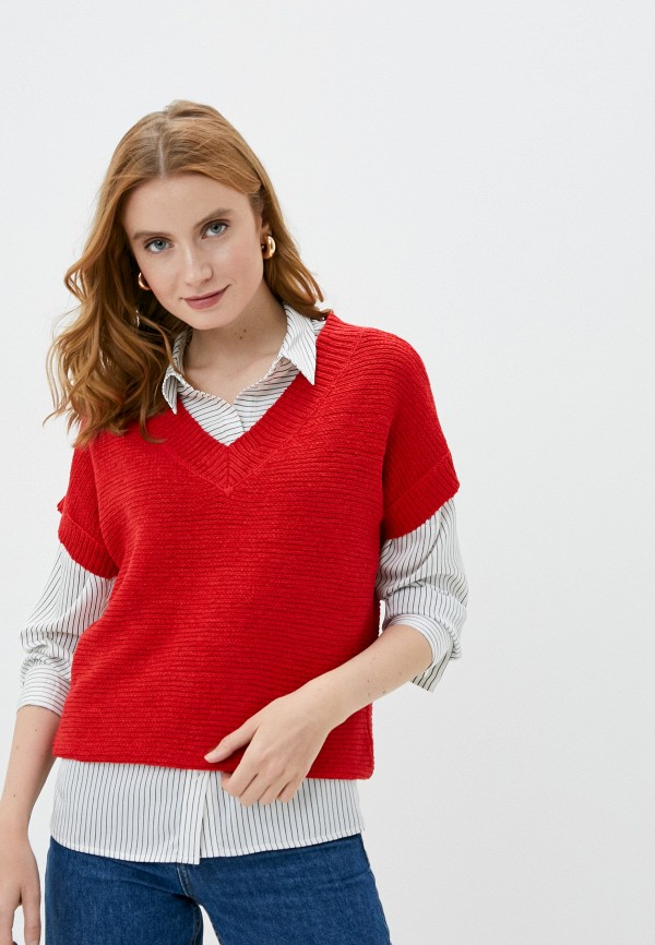 женский пуловер wallis, красный