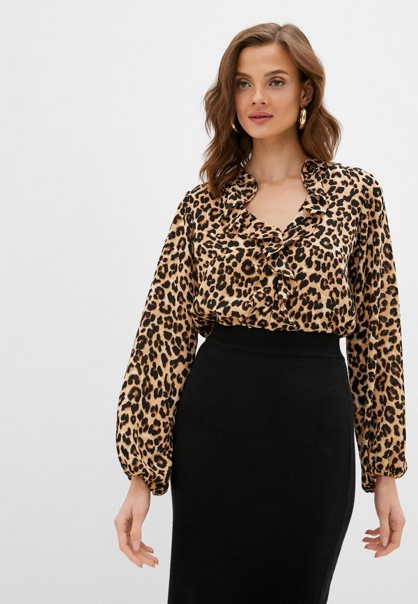 женская блузка wallis, коричневая