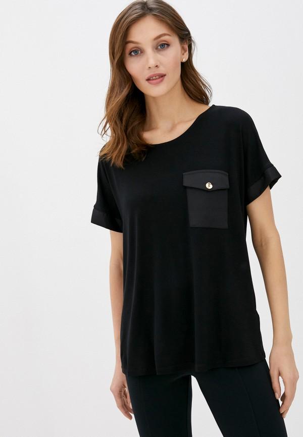 женская футболка wallis, черная