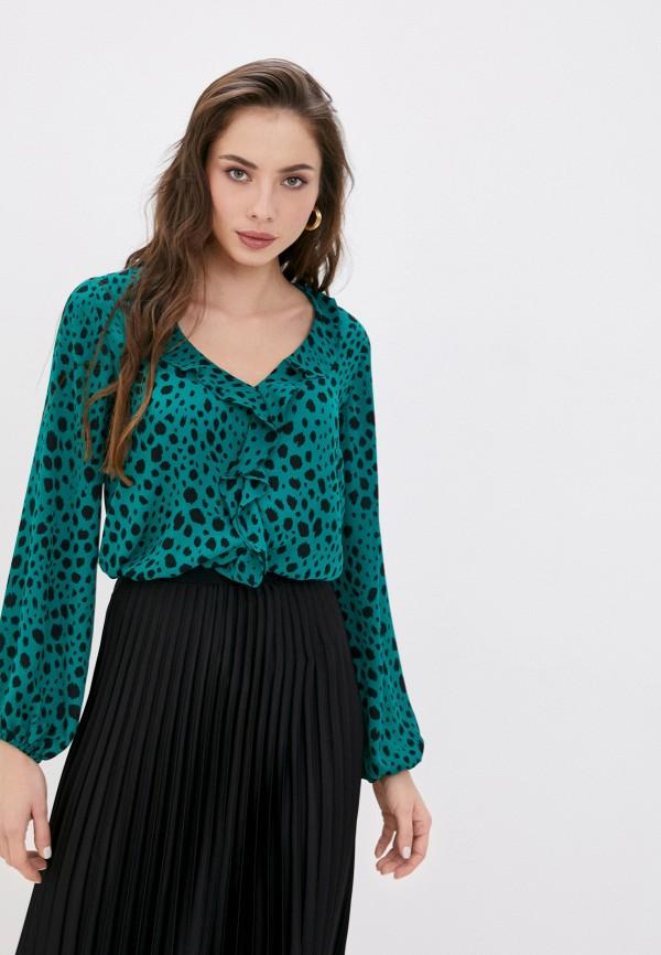 женская блузка wallis, зеленая