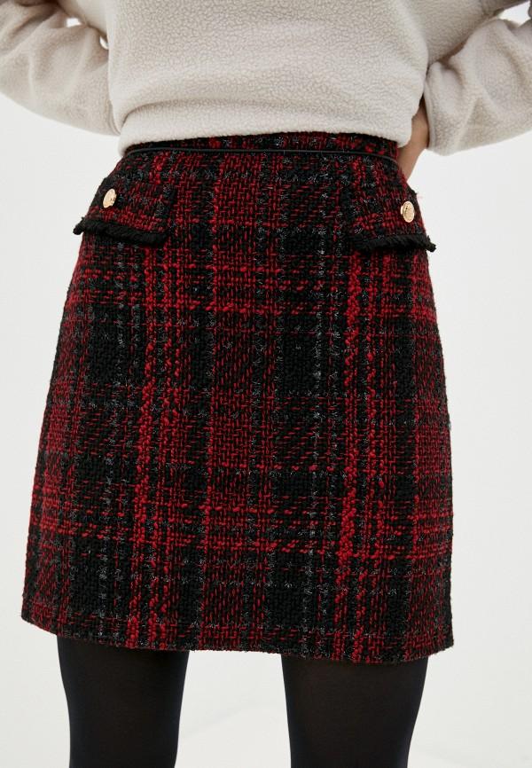 женская юбка wallis, бордовая