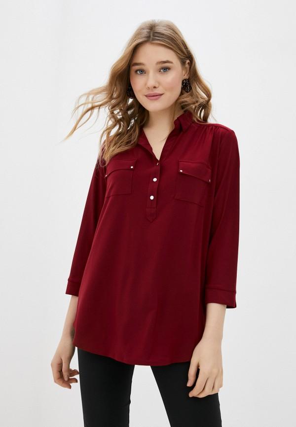 женская блузка wallis, бордовая