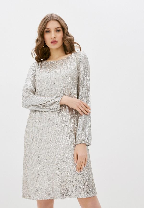 женское вечерние платье wallis, серебряное