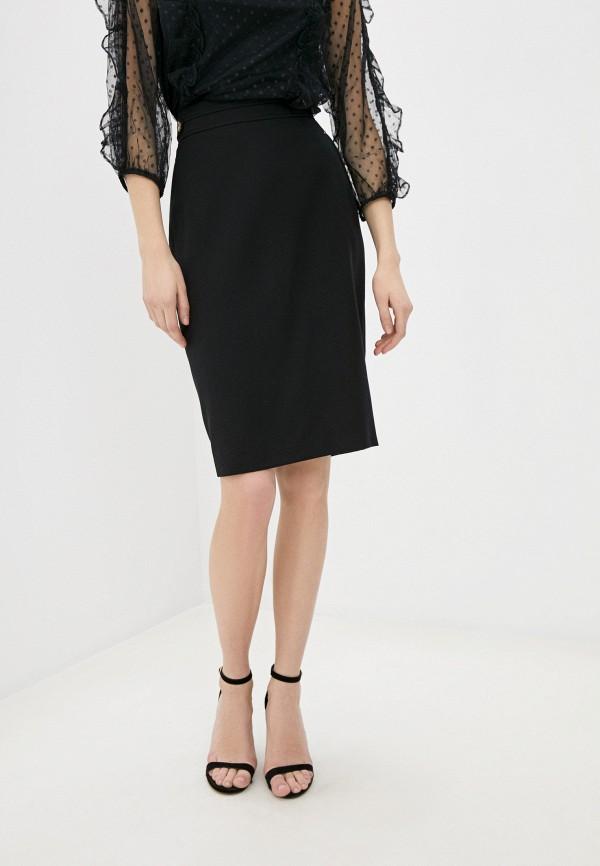 женская прямые юбка wallis, черная