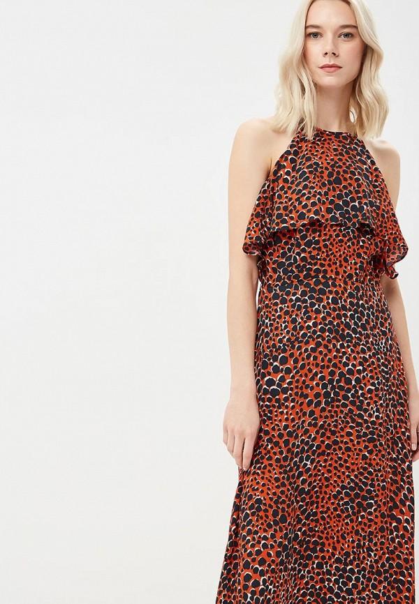 Фото 2 - женское платье Warehouse красного цвета