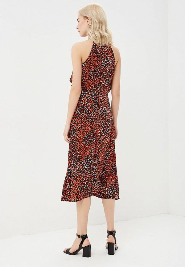 Фото 3 - женское платье Warehouse красного цвета