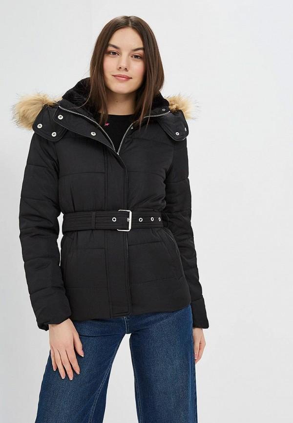 женская куртка warehouse, черная