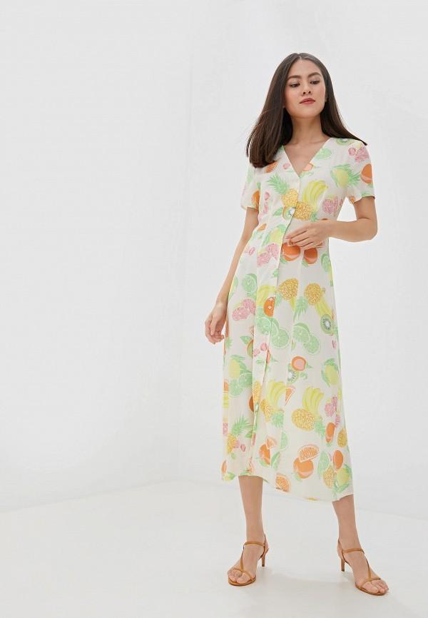 женское повседневные платье warehouse, белое
