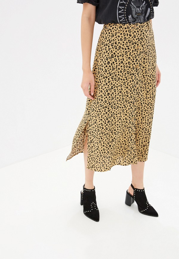 женская юбка warehouse, коричневая