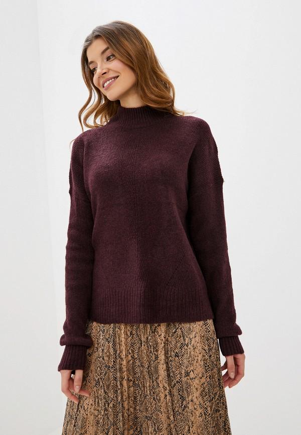 женский свитер warehouse, бордовый