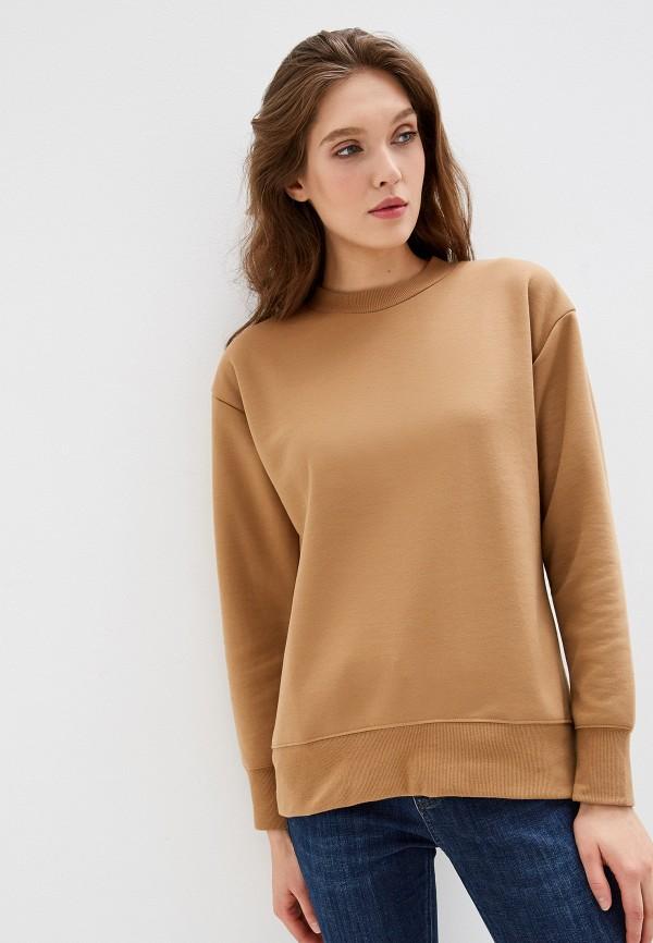 женский свитшот warehouse, коричневый