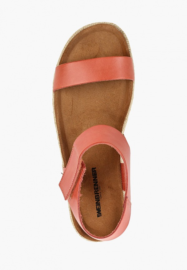 Фото 4 - женские сандали Weinbrenner by Bata кораллового цвета